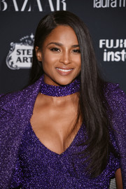 Ciara wore a simple yet stylish side-parted 'do at the Harper's Bazaar Icons event.