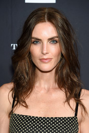 Hilary Rhoda looked gorgeous with her teased 'do at the Harper's Bazaar Icons event.