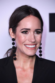 Louise Roe tied her hair back in a low ponytail for the Harper's Bazaar 150 Most Fashionable Women celebration.