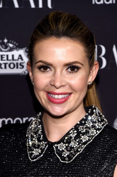 Carly Steel attended the Harper's Bazaar Icons event wearing her signature ponytail.