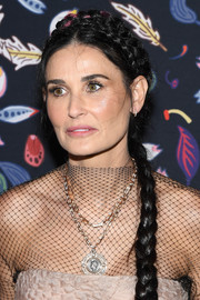 Demi Moore looked sweet with her crown braid at the Harper's Bazaar exhibition.