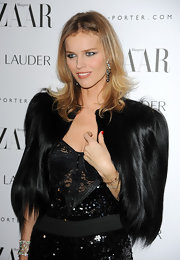 Eva Herzigova wore a 23-carat white diamond cuff bracelet at the 'Harper's Bazaar' Women of the Year Awards.