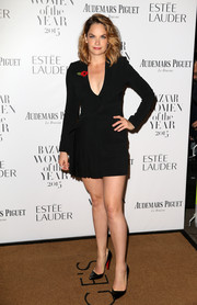 Ruth Wilson put on a leggy display in a super-short, structured LBD at the Harper's Bazaar Women of the Year Awards.