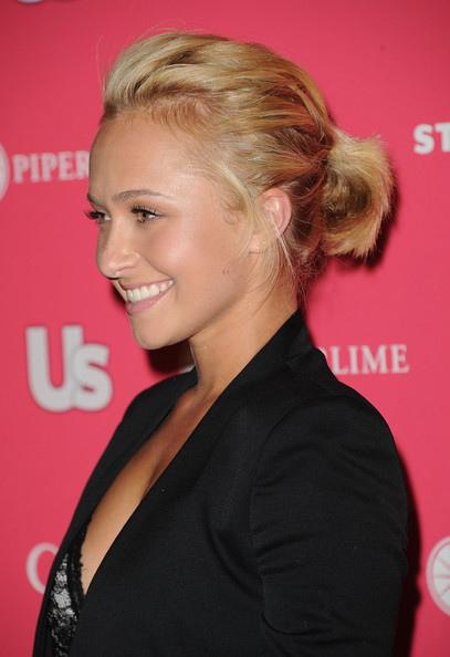 Hayden Panettiere Ponytail [hair,hairstyle,blond,chin,beauty,long hair,bun,brown hair,chignon,premiere,arrivals,hayden panettiere,hollywood,california,eden,party,us weekly hot hollywood,us weekly hot hollywood event]