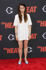 Zosia Mamet's too-short white dress at the premiere of 'The Heat' made her look like she was missing pants.