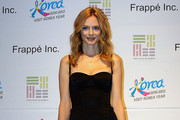 American actress Heather Graham attends a photocall ahead of the press conference for the PBS' documentary,