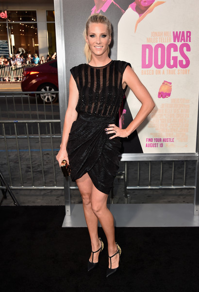 Heather Morris Beaded Dress [clothing,dress,cocktail dress,little black dress,fashion,hairstyle,premiere,fashion model,footwear,carpet,arrivals,heather morris,california,hollywood,tcl chinese theatre,warner bros. pictures,war dogs,premiere,premiere]