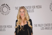 Heather Morris Stripes up Her Look with a Blazer