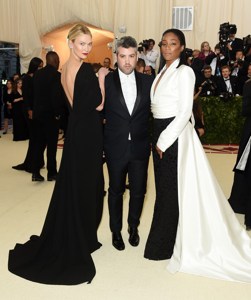 Karli Kloss, Brandon Maxwell and Tiffany Haddish