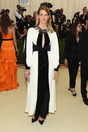 Laura Dern chose a black-and-white keyhole-cutout gown by Proenza Schouler for her 2018 Met Gala look.