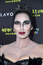 Padma Lakshmi rocked some impressive stage makeup when she attended Heidi Klum's Halloween party as the Black Swan.