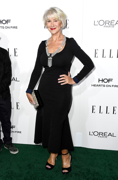 Helen Mirren Form-Fitting Dress