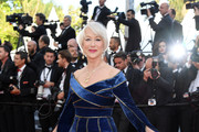 Helen Mirren Off-the-Shoulder Dress