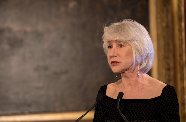 Helen Mirren Bob [lady,blond,photography,performance,helen mirren,invest in futures reception for the princes trust,prince of wales,st jamess palace,england,london,the princes trust,reception]