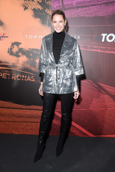 Helena Bordon Leather Pants [clothing,fashion,carpet,outerwear,premiere,flooring,footwear,event,red carpet,performance,guests,helena bordon,latam,milan,italy,tommy hilfiger drive now,tommy drive now show,show,milan fashion week,milan fashion week fall]
