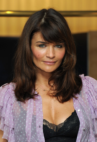 More Pics of Helena Christensen Long Straight Cut with Bangs (1 of 13) - Helena Christensen Lookbook - StyleBistro