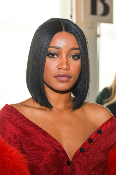 More Pics of Keke Palmer Off-the-Shoulder Top (1 of 4) - Tops Lookbook - StyleBistro [beauty,human hair color,hairstyle,black hair,lip,long hair,girl,hair coloring,model,brown hair,keke palmer,hellessy - front row,new york city,pier 59,new york fashion week,fashion show]
