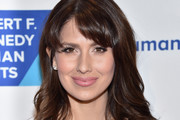 Hilaria Baldwin Long Wavy Cut with Bangs