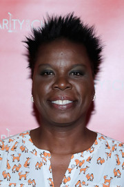 Leslie Jones attended Hilarity for Charity wearing spiked hair.
