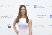 Hilary Swank Cowl Neck Top