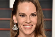 Hilary Swank Diamond Chandelier Earrings