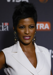 Tamron Hall attended Extra's 2016 White House Correspondents' Association Dinner Weekend Party wearing her hair in a cool fauxhawk.