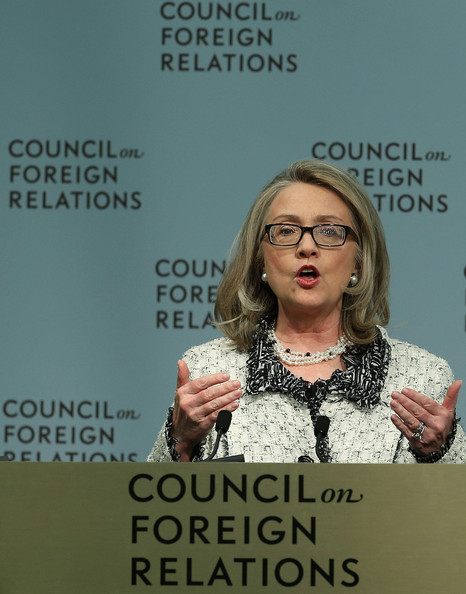 Hillary Clinton Gives Speech On American Leadership On Her Last Day In Office