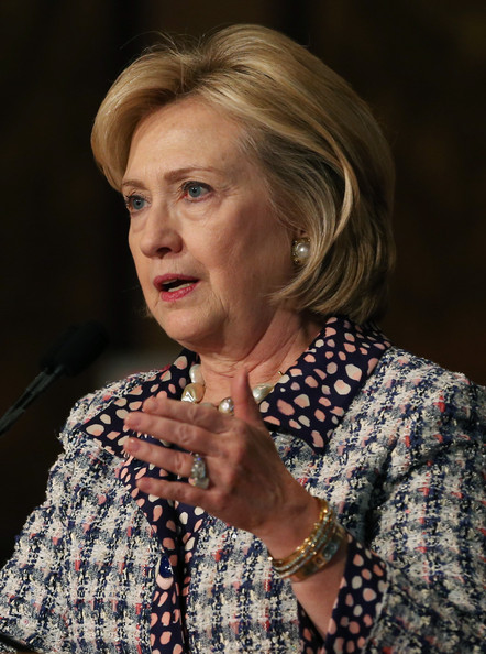 Hillary Clinton Bob [human,adaptation,portrait,portrait photography,hillary clinton,women,politicians attend symposium on advancing afghan women,symposium,peace,afghanistan,washington dc,country,georgetown university,institute for women peace and security]