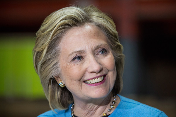 Hillary Clinton Bob [face,hair,head,chin,blond,smile,photography,portrait,wrinkle,portrait photography,hillary clinton,sectetary,employees,little,table,new hampshire,state,election campaign,democratic,furniture manufacturer]