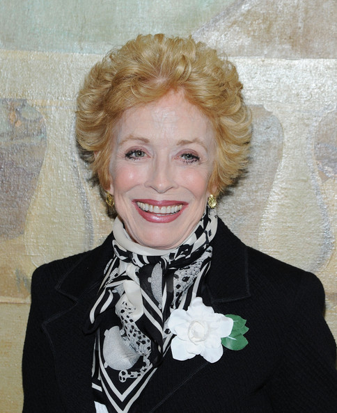 Holland Taylor Short Curls [holland taylor,hair,blond,lip,hairstyle,beauty,chin,smile,scarf,fashion accessory,formal wear,the times square building,new york city,broadway]