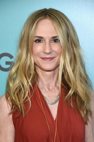 Holly Hunter Long Wavy Cut [the big sick,hair,blond,face,hairstyle,eyebrow,layered hair,long hair,surfer hair,lip,chin,arrivals,holly hunter,new york,the landmark sunshine theater,new york premiere]