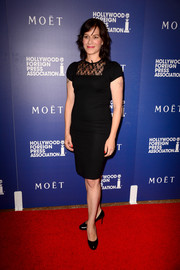Franka Potente kept it basic in a lace-yoke LBD at the Hollywood Foreign Press Association's Grants Banquet.