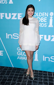 Ariel Winter wore a ethereal white chiffon dress with lace insets for the Night of Firsts celebration.