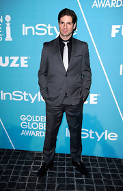 Gale Harold pinstriped suit had just the right amount of sheen to catch our eye.
