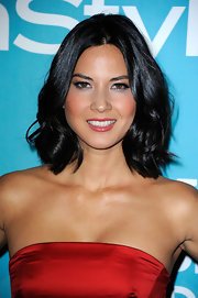 Olivia Munn wore her shiny mid-length bob in casually tousled waves at A Night of Firsts presented by the Hollywood Foreign Press Association and 'InStyle.'