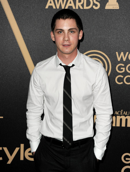 More Pics of Logan Lerman Striped Tie (1 of 7) - Logan Lerman Lookbook - StyleBistro