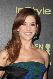 Kate Walsh looked lovely with her wavy hair swept to one side during the Golden Globe Award season celebration.