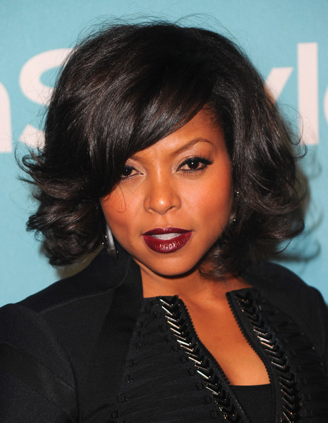 More Pics of Taraji P. Henson Dark Lipstick (1 of 5) - Taraji P. Henson Lookbook - StyleBistro