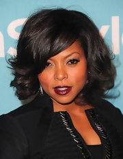 Taraji was a sultry sensation at the 'InStyle' event. Her cranberry plum lips were the perfect shade for the winter season.