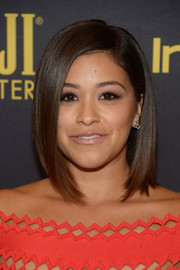 Gina Rodriguez gave us hair envy when she wore this sleek graduated bob at the HFPA and InStyle Golden Globe Award season celebration.