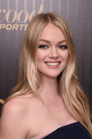 Lindsay Ellingson wore her hair with a slightly off-center part and loose layers when she attended the Hollywood Reporter's 35 Most Powerful People in Media event.