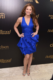 Dylan Lauren made a super-chic appearance at the Hollywood Reporter's 35 Most Powerful People in Media event in this electric-blue ruffle dress.