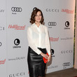 Mandy Moore in a Leather Pencil Skirt
