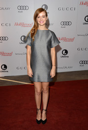 Ahna O'Reilly's silver and black Osman mini dress at the Women in Entertainment Breakfast had a '60s feel.