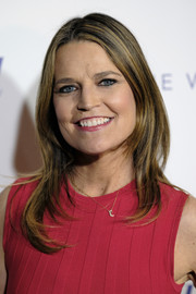 Savannah Guthrie wore her hair in a face-framing layered cut at the Hollywood Reporter's 35 Most Powerful People in Media.