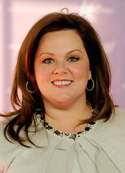 Melissa McCarthy wore her hair sleek, straight and slightly tousled at the Women in Entertainment breakfast.