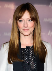 Judy Greer wore her shiny tresses long and straight with lengthy bangs at the Women in Entertainment breakfast.