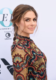 Maria Menounos went boho with this center-parted braid at the Hollywood Reporter's Women in Entertainment Breakfast.