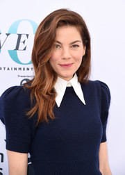 Michelle Monaghan looked pretty with her side-parted waves at the Hollywood Reporter's Women in Entertainment Breakfast.