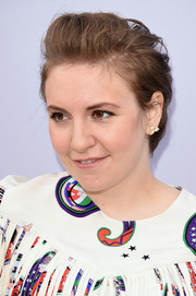 Lena Dunham sported a short messy hairstyle at the 2015 Women in Entertainment Breakfast.